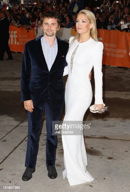 Actress Kate Hudson and husband/musician Matthew Bellamy attend 'The Reluctant Fundamentalist' premiere during the 2012 Toronto International Film...