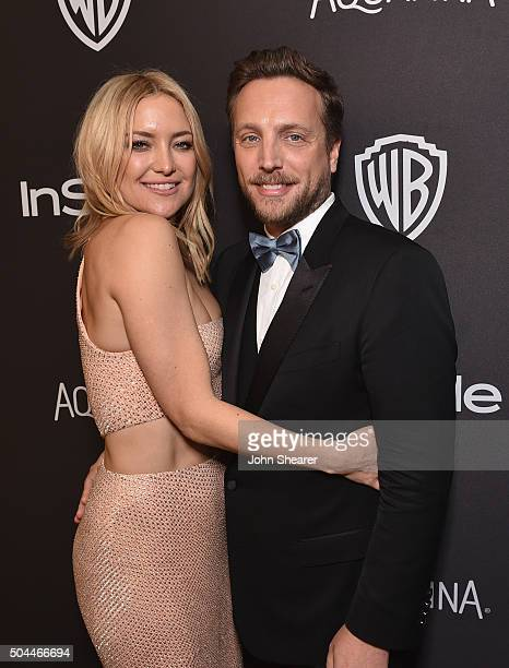 Actress Kate Hudson and InStyle Editorial Director Ariel Foxman attend The 2016 InStyle and Warner Bros 73rd annual Golden Globe Awards PostParty at...