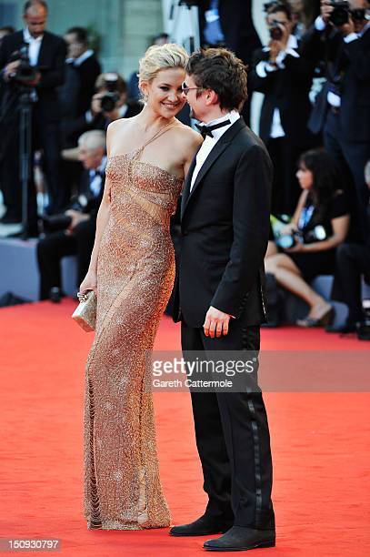 """Actress Kate Hudson and Matt Bellamy attend """"The Reluctant Fundamentalist"""" Premiere And Opening Ceremony during the 69th Venice International Film..."""