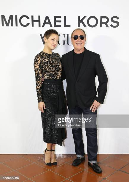 Actress Kate Hudson and Michael Kors attend the Michael Kors And Vogue Japan Celebrate Kate Hudson#39s Work With Watch Hunger Stop In Support Of The...