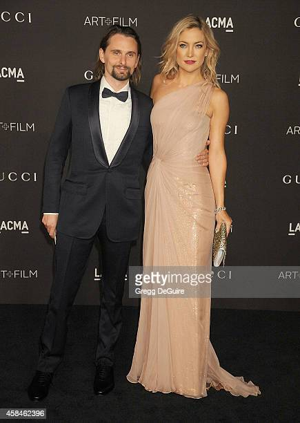 Actress Kate Hudson and musician Matthew Bellamy attend the 2014 LACMA Art Film Gala Honoring Barbara Kruger And Quentin Tarantino Presented By Gucci...
