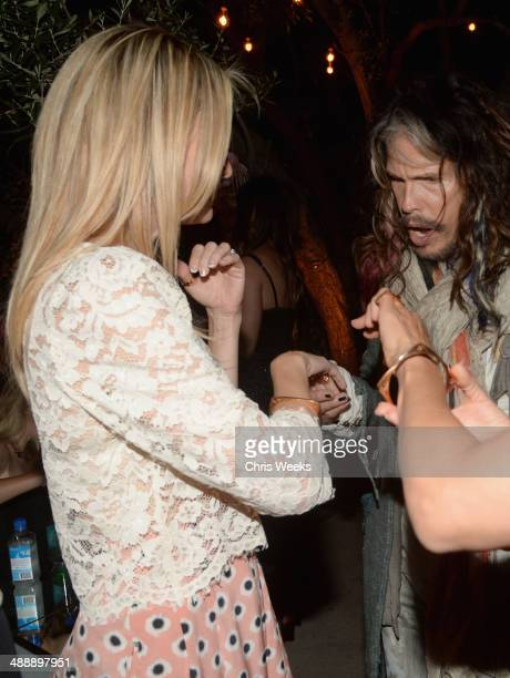 Actress Kate Hudson and musician Steven Tyler attend Chrome Hearts & Kate Hudson Host Garden Party To Celebrate Collaboration at Chrome Hearts on May...