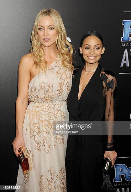 Actress Kate Hudson and Nicole Richie arrive at The PEOPLE Magazine Awards at The Beverly Hilton Hotel on December 18 2014 in Beverly Hills California