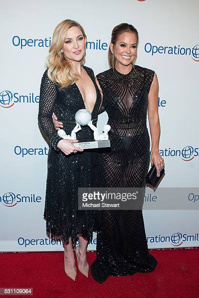 Actress Kate Hudson and tv personality Brooke BurkeCharvet attend the 2016 Operation Smile Gala at Cipriani 42nd Street on May 12 2016 in New York...