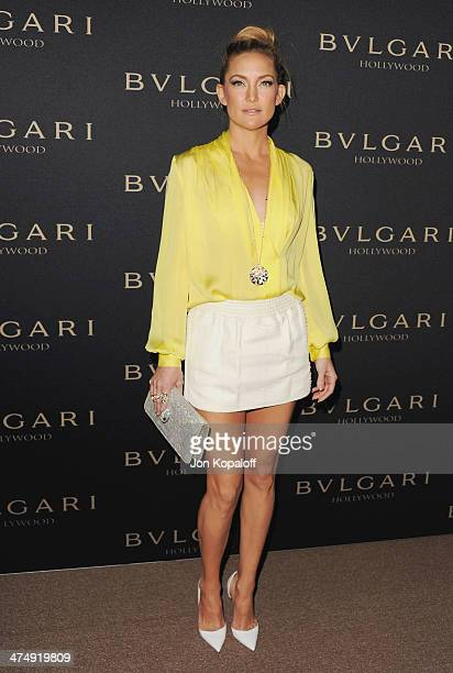 Actress Kate Hudson arrives at BVLGARI 'Decades Of Glamour' Oscar Party Hosted By Naomi Watts at Soho House on February 25 2014 in West Hollywood...