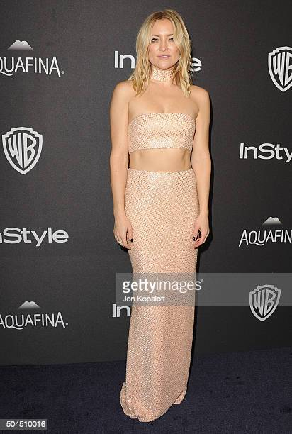 Actress Kate Hudson arrives at the 2016 InStyle And Warner Bros 73rd Annual Golden Globe Awards PostParty at The Beverly Hilton Hotel on January 10...