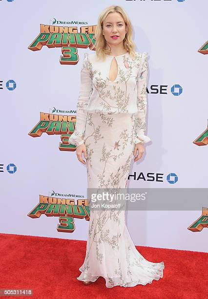 Actress Kate Hudson arrives at the Los Angeles Premiere 'Kung Fu Panda 3' at TCL Chinese Theatre on January 16 2016 in Hollywood California
