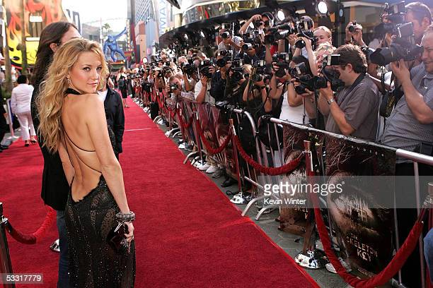 Actress Kate Hudson arrives at the premiere of Skeleton Key at Universal Studios Cinema at Universal CityWalk on August 2 2005 in Universal City...