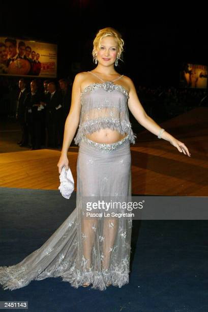Actress Kate Hudson arrives at the screening of the James Ivory film Le Divorce at the 60th Venice Film Festival August 31 2003 in Venice Italy