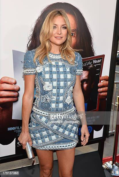 Actress Kate Hudson arrives to the premiere of HBO Films' Clear History at ArcLight Cinemas Cinerama Dome on July 31 2013 in Hollywood California