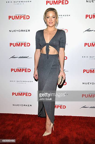 Actress Kate Hudson attends Brian Atwood's Celebration of PUMPED hosted by Melissa McCarthy and Eric Buterbaugh on October 23 2015 in Los Angeles...
