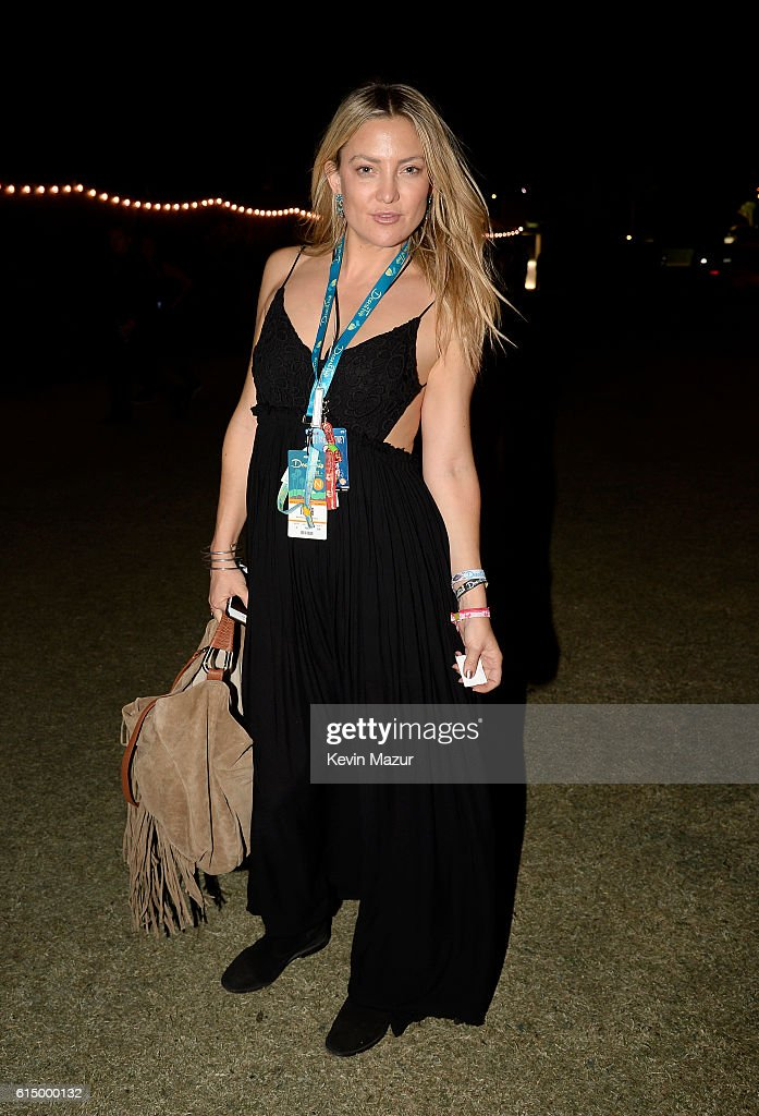 Actress Kate Hudson attends Desert Trip at The Empire Polo Club on October 15, 2016 in Indio, California.