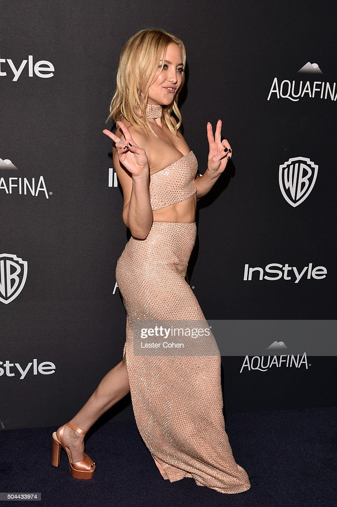 Actress Kate Hudson attends InStyle and Warner Bros. 73rd Annual Golden Globe Awards Post-Party at The Beverly Hilton Hotel on January 10, 2016 in Beverly Hills, California.