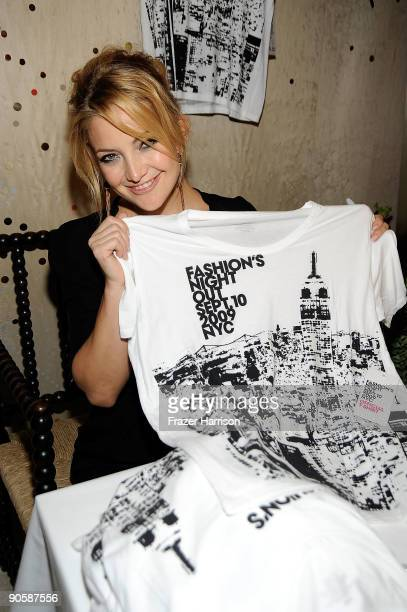 Actress Kate Hudson attends Stella McCartney Shop Celebrates Fashion Night Out during MercedesBenz Fashion Week at Bryant Park on September 10 2009...