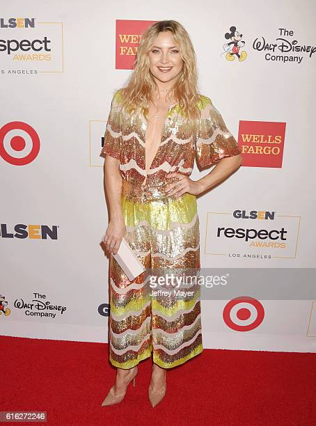 Actress Kate Hudson attends the 2016 GLSEN Respect Awards at the Beverly Wilshire Hotel on October 21 2016 in Beverly Hills California