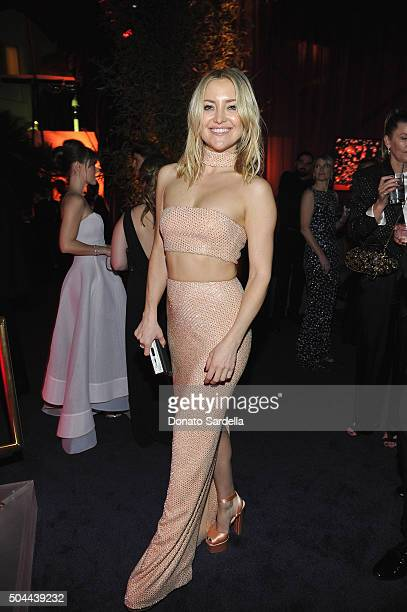 Actress Kate Hudson attends The 2016 InStyle and Warner Bros 73rd annual Golden Globe Awards PostParty at The Beverly Hilton Hotel on January 10 2016...