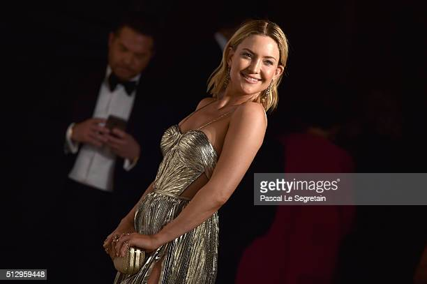 Actress Kate Hudson attends the 2016 Vanity Fair Oscar Party Hosted By Graydon Carter at the Wallis Annenberg Center for the Performing Arts on...