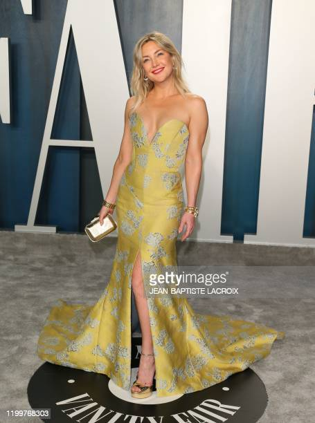 US actress Kate Hudson attends the 2020 Vanity Fair Oscar Party following the 92nd Oscars at The Wallis Annenberg Center for the Performing Arts in...