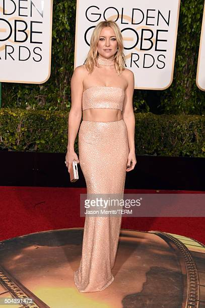 Actress Kate Hudson attends the 73rd Annual Golden Globe Awards held at the Beverly Hilton Hotel on January 10, 2016 in Beverly Hills, California.