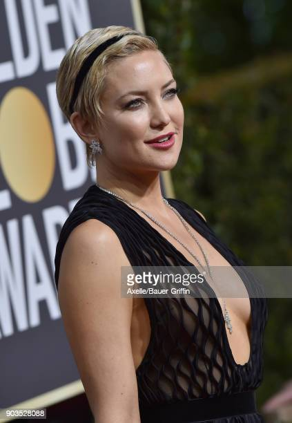 Actress Kate Hudson attends the 75th Annual Golden Globe Awards at The Beverly Hilton Hotel on January 7 2018 in Beverly Hills California