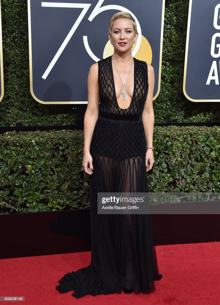 Actress Kate Hudson attends the 75th Annual Golden Globe Awards at The Beverly Hilton Hotel on January 7, 2018 in Beverly Hills, California.