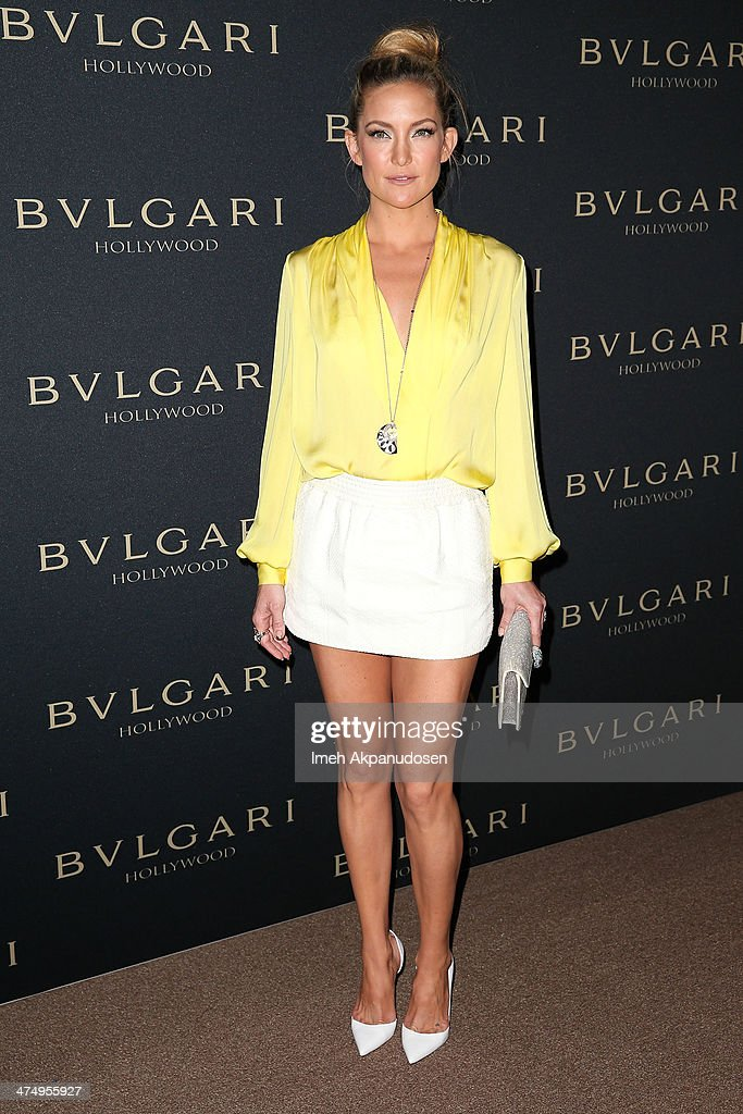 Actress Kate Hudson attends the BVLGARI 'Decades of Glamour' Oscar Party at Soho House on February 25, 2014 in West Hollywood, California.