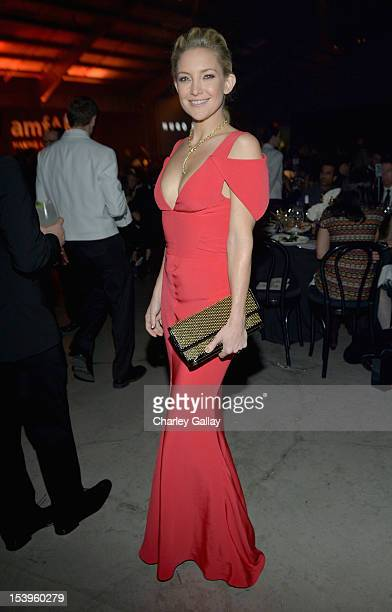 Actress Kate Hudson attends the Grey Goose hosted amfAR Inspiration Gala at Milk Studios on October 11, 2012 in Los Angeles, California.