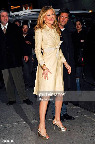 """Actress Kate Hudson attends the """"Late Show With David Letterman"""" taping at the Ed Sullivan Theater February 07, 2008 in New York City."""