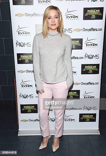 """Actress Kate Hudson attends the Moms Mamarazzi """"Kung Fu Panda 3"""" screening at Regal Union Square Theatre, Stadium 14 on January 26, 2016 in New York..."""