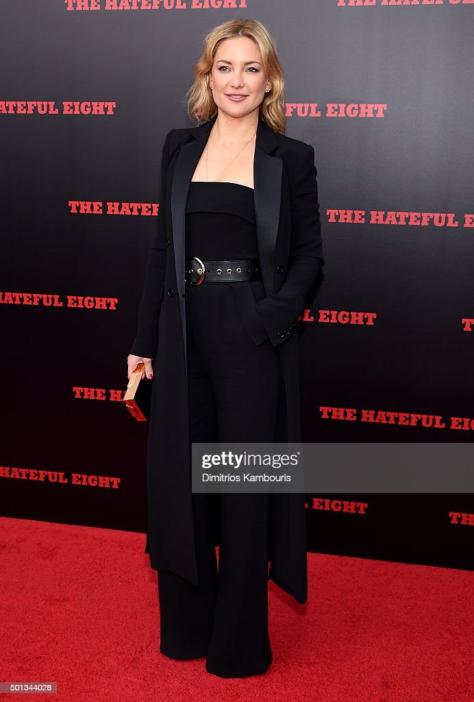Actress Kate Hudson attends the New York premiere of 'The Hateful Eight' on December 14, 2015 in New York City.