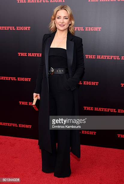 """Actress Kate Hudson attends the New York premiere of """"The Hateful Eight"""" on December 14, 2015 in New York City."""