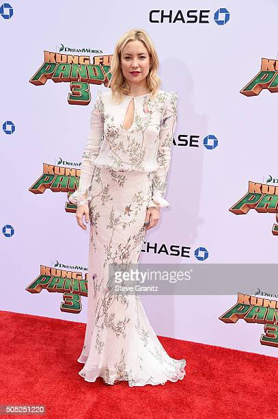 Actress Kate Hudson attends the premiere of DreamWorks Animation and Twentieth Century Fox's 'Kung Fu Panda 3' at the TCL Chinese Theatre on January...