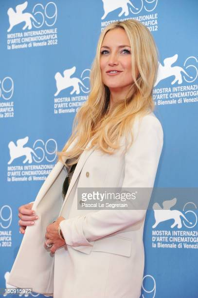 Actress Kate Hudson attends The Reluctant Fundamentalist Photocall during the 69th Venice International Film Festival at Palazzo del Casino on August...