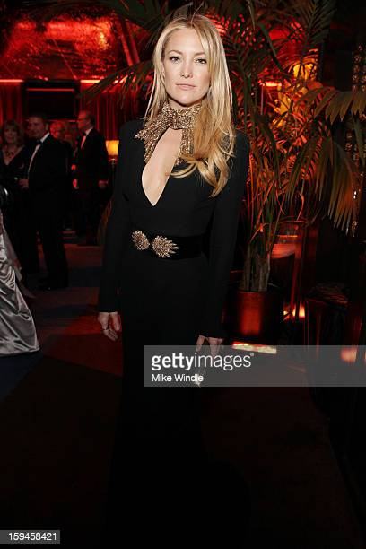 Actress Kate Hudson attends the The Weinstein Company's 2013 Golden Globe Awards after party presented by Chopard HP Laura Mercier Lexus Marie Claire...