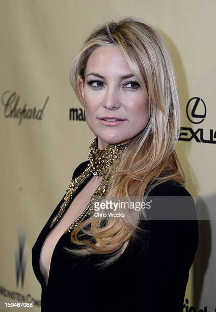 Actress Kate Hudson attends The Weinstein Company's 2013 Golden Globe Awards after party presented by Chopard HP Laura Mercier Lexus Marie Claire and...