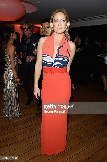 Actress Kate Hudson attends Vanity Fair and Chopard AfterParty Celebrating the Cannes Film Festival at Hotel du CapEdenRoc on May 14 2016 in Cap...