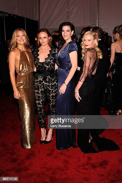 Actress Kate Hudson designer Stella McCartney actress Liv Tyler and actress Kate Bosworth attend The Model as Muse Embodying Fashion Costume...