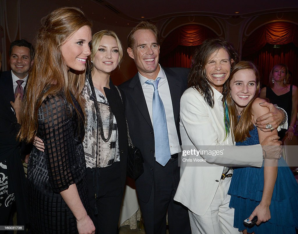 Actress Kate Hudson Fox Sports Personality Joe Buck And Steven Tyler News Photo Getty Images