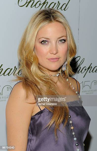 Actress Kate Hudson poses for a photo at the star studded gala celebrating Chopard's 150 years of excellence at The Frick Collection on April 29,...
