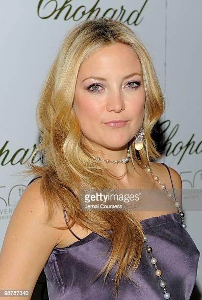 Actress Kate Hudson poses for a photo at the star studded gala celebrating Chopard's 150 years of excellence at The Frick Collection on April 29 2010...