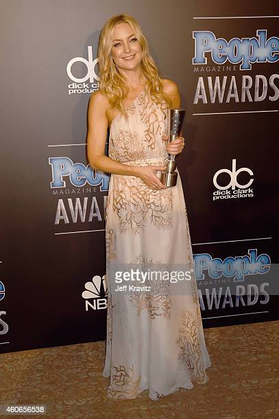 Actress Kate Hudson poses in the press room during the PEOPLE Magazine Awards at The Beverly Hilton Hotel on December 18 2014 in Beverly Hills...