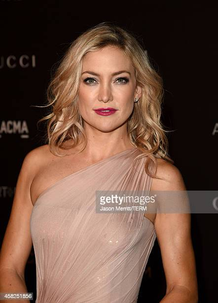 Actress Kate Hudson, wearing Gucci, attends the 2014 LACMA Art + Film Gala honoring Barbara Kruger and Quentin Tarantino presented by Gucci at LACMA...