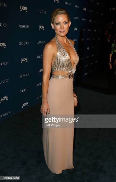 Actress Kate Hudson, wearing Gucci, attends the LACMA 2013 Art + Film Gala honoring Martin Scorsese and David Hockney presented by Gucci at LACMA on...