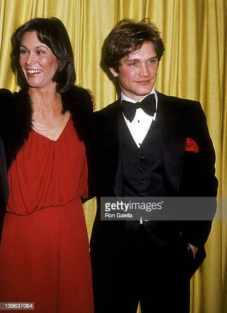 Actress Kate Jackson and actor Andrew Stevens attend the 36th Annual Golden Globe Awards on January 27 1979 at Beverly Hilton Hotel in Beverly Hills...