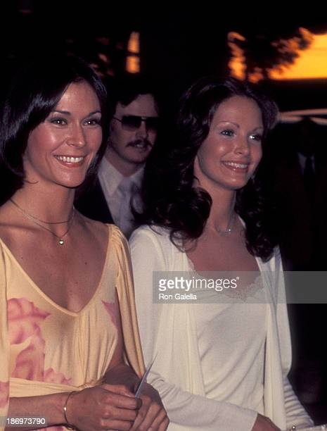 Actress Kate Jackson and actress Jaclyn Smith attend the Third Annual People's Choice Awards on February 10 1977 at the Longhorn Theatre in Hollywood...