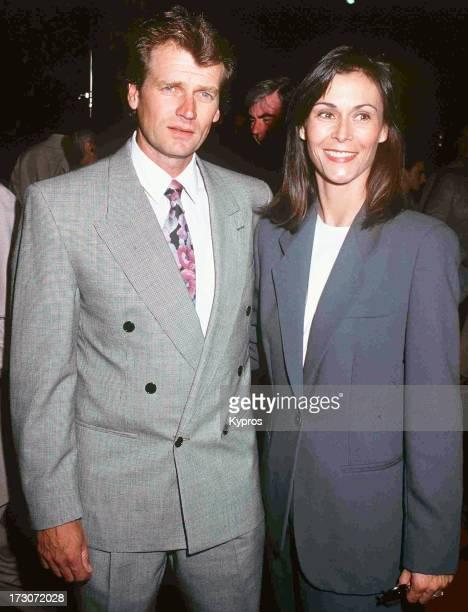 Actress Kate Jackson with her husband Tom Hart circa 1992