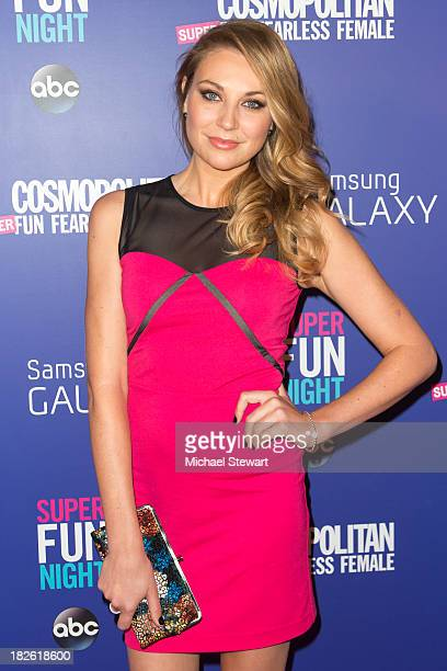 Actress Kate Jenkinson attends Cosmopolitan's Super Fun Night With Rebel Wilson And Joanna Coles at Hearst Tower on October 1 2013 in New York City
