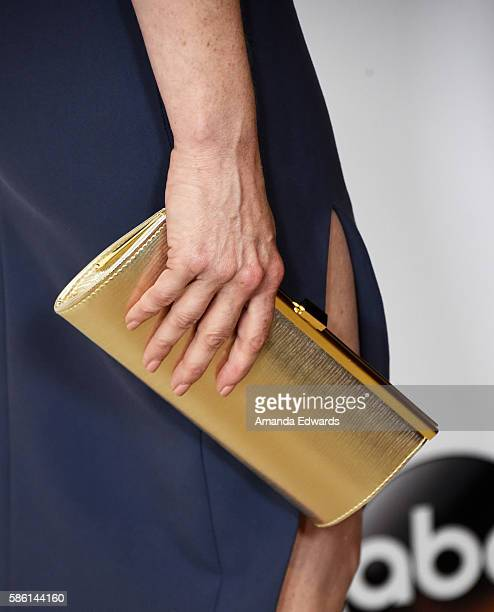 Actress Kate Jennings Grant clutch detail attends the Disney ABC Television Group TCA Summer Press Tour on August 4 2016 in Beverly Hills California