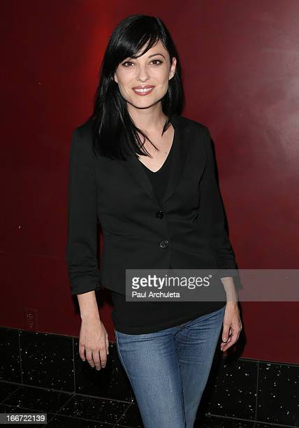 Actress Kate Kelton attends the screening of Sexy Evil Genius at the ArcLight Cinemas on April 15 2013 in Hollywood California