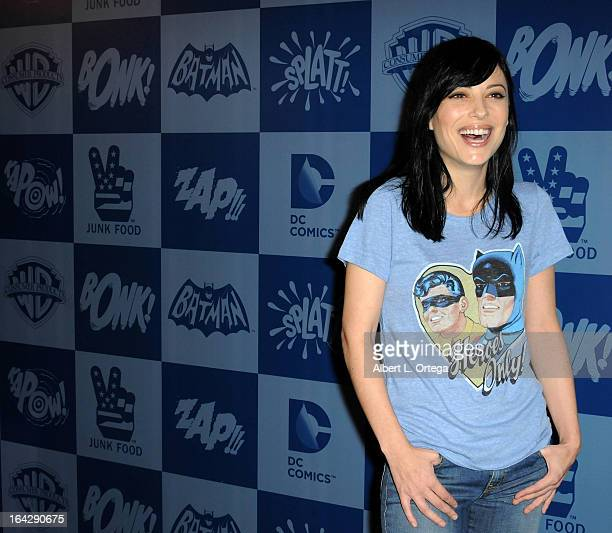 Actress Kate Kelton attends the Warner Bros Consumer Products And Junk Food Celebrate The Launch Of The Batman Classic TV Series Licensing Program...